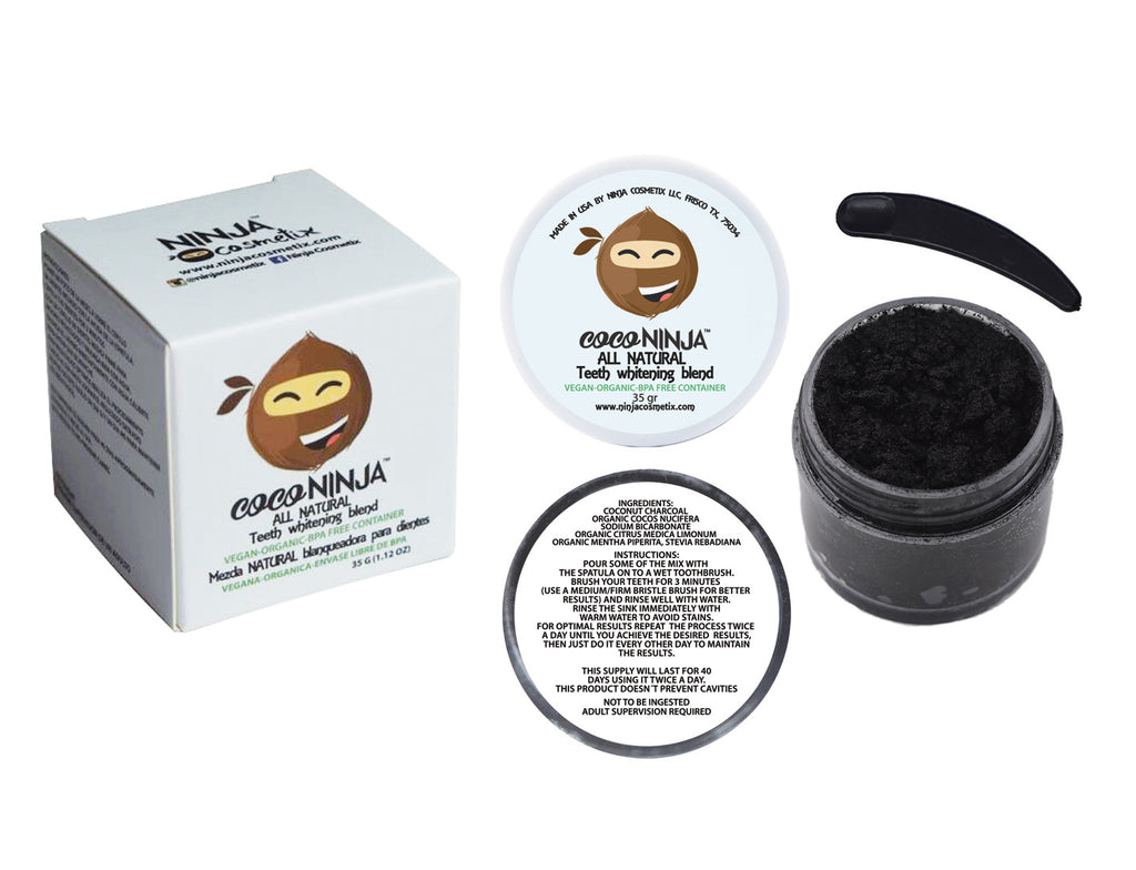 COCO NINJA™ ALL NATURAL TEETH WHITENING BLEND
