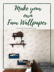 Make your own faux wallpaper