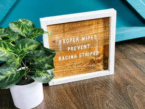 Proper wipes prevent racing stripes