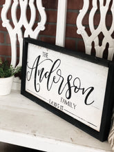 Family name sign -SMALL
