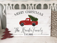 Little Red Truck Merry Christmas