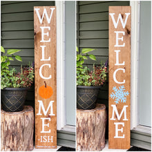 Reversible Seasonal Welcome (-ish) sign