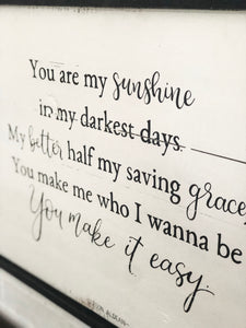 You make it easy- Jason Aldean
