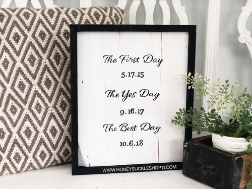The First day / The yes day / The best day