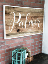 Family name sign -LARGE