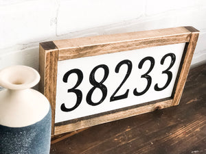 Zip code wall gallery sign