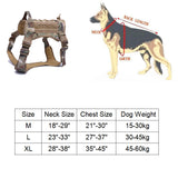 Tactical Service Dog Vest with accessories
