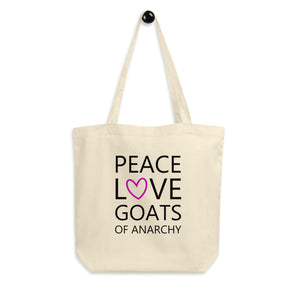 Peace Love Goats (Pink )Eco Tote Bag