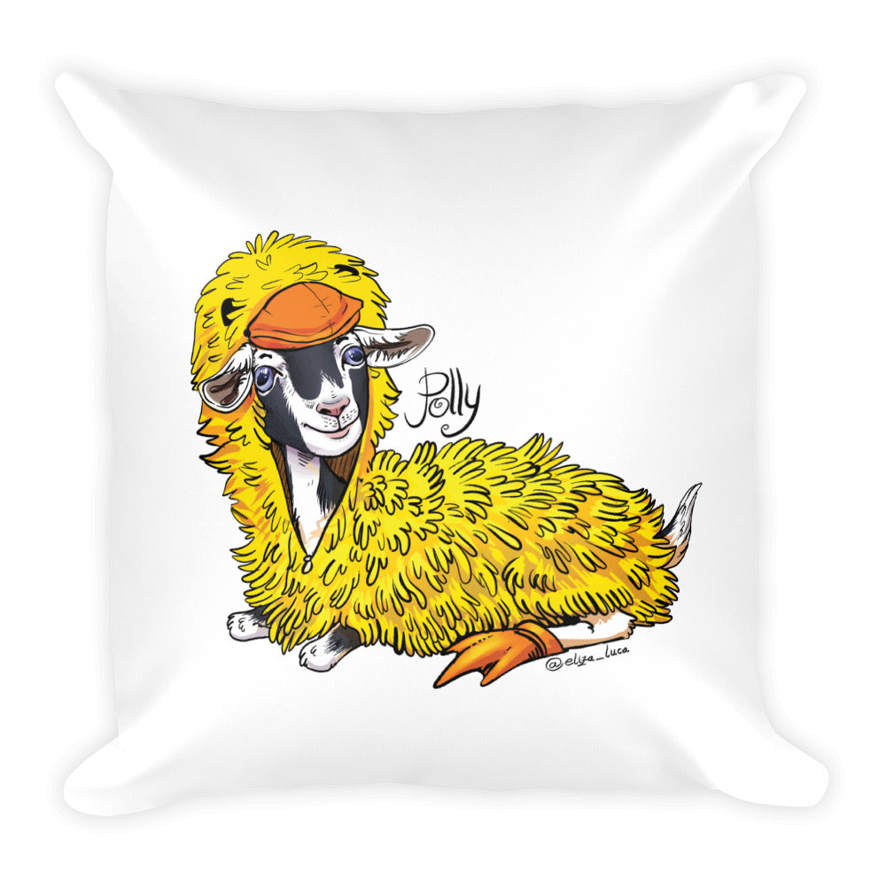 Polly Duck Costume Pillow - Square Pillow
