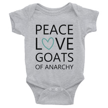 Peace Love Goats_Turquoise Onesie