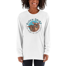 Ditch Dairy - American Apparel Unisex Fine Jersey Long sleeve t-shirt