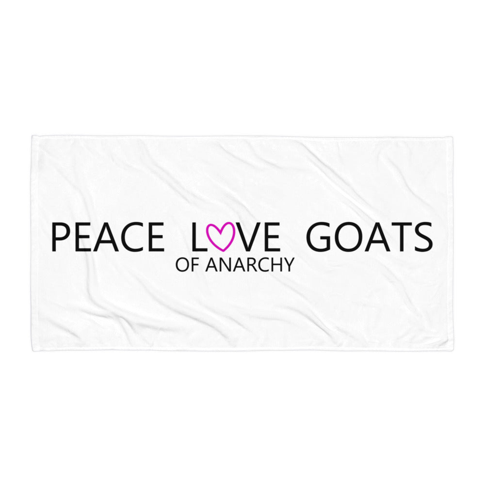 Peace Love Goats_Pink Towel