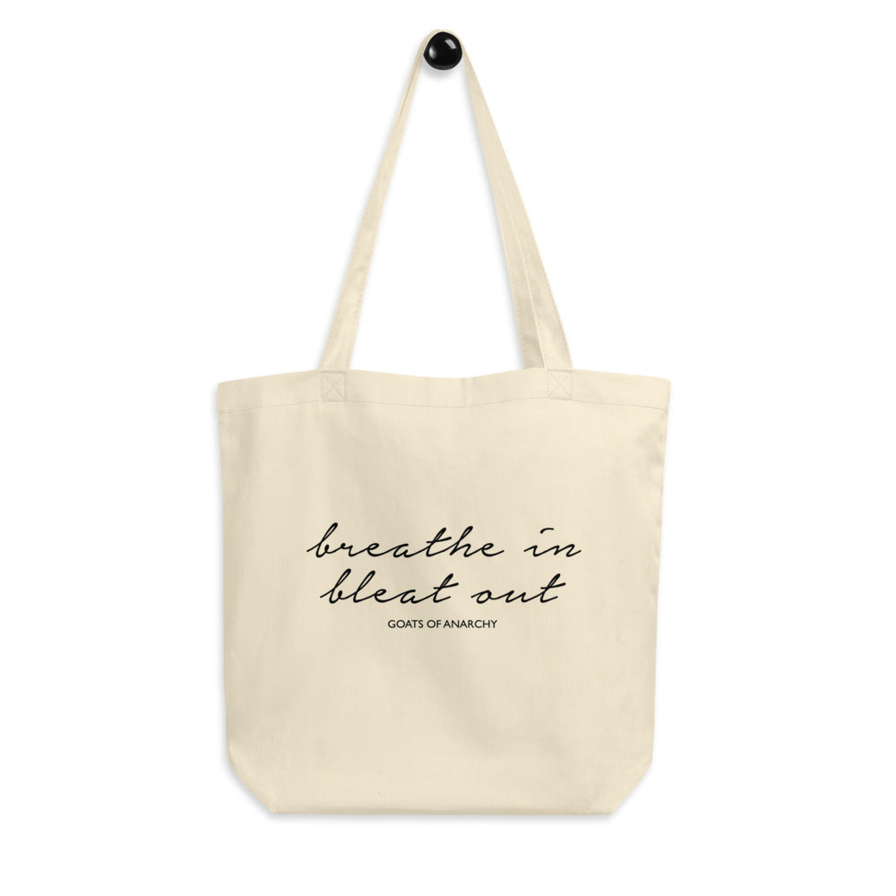 Breathe in Bleat Out Eco Tote Bag