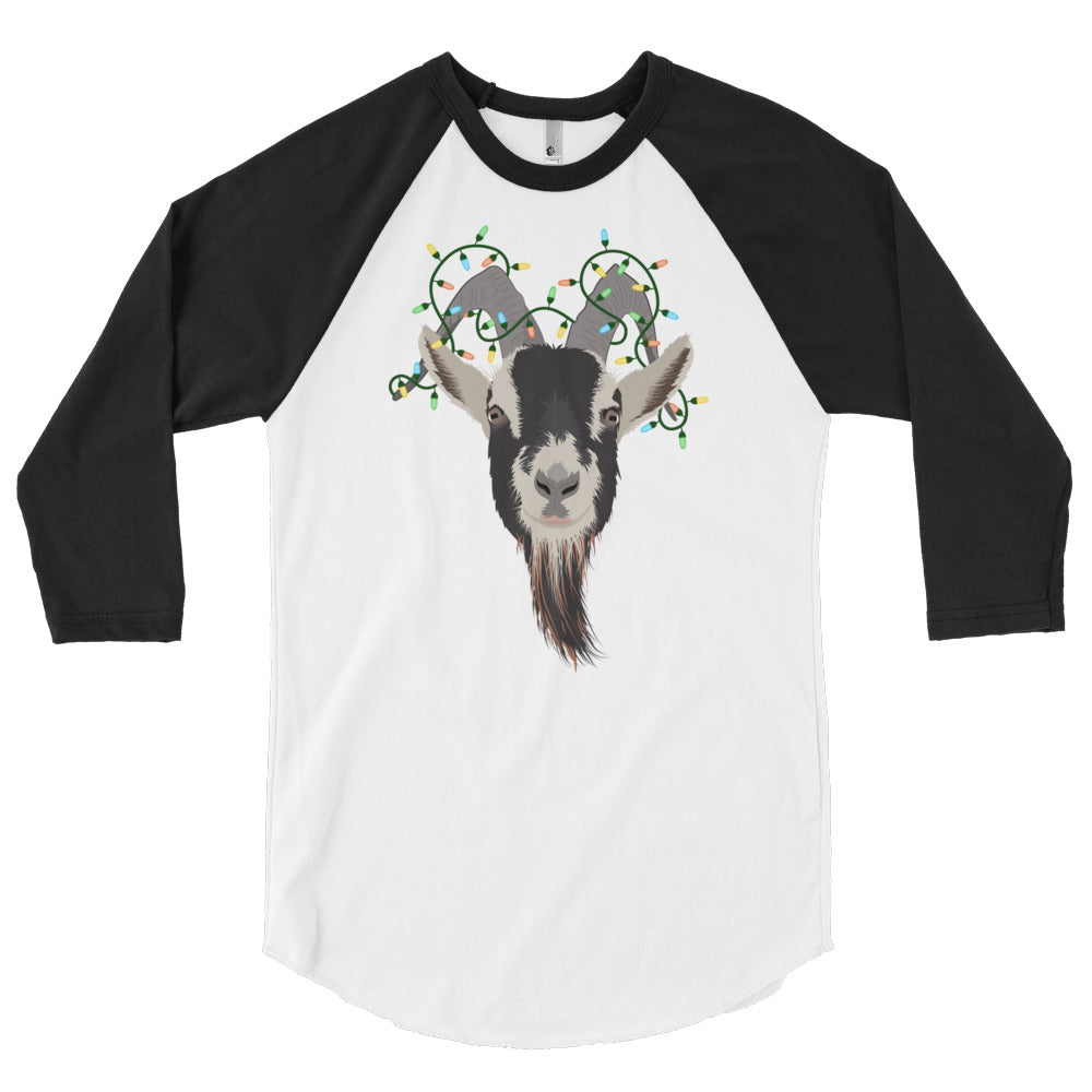 Christmas Lights - American Apparel 3/4 sleeve raglan baseball shirt