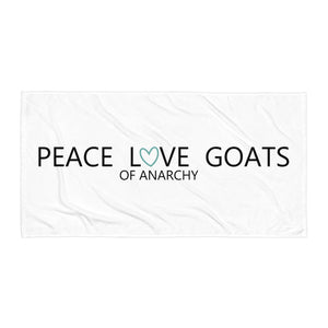 Peace Love Goats_Turquoise Towel