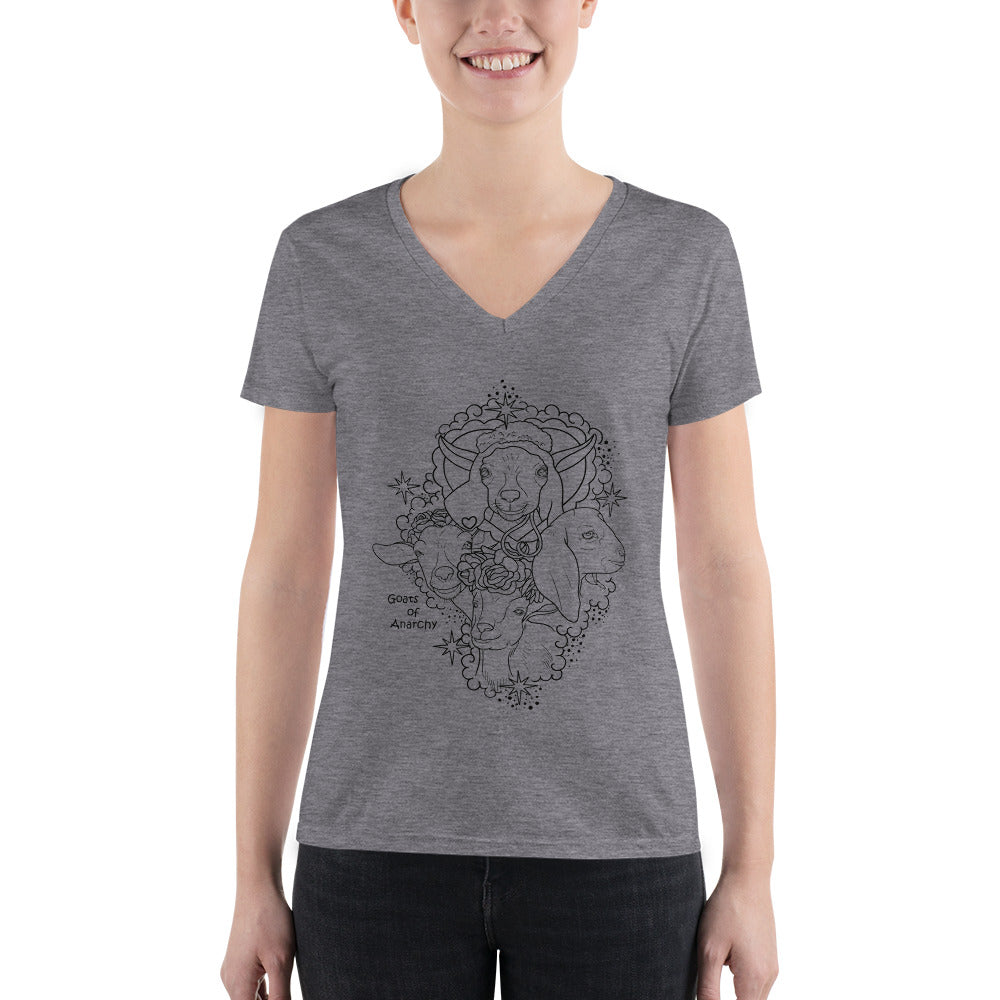Bella + Canvas 8435 Deep V-Neck T-Shirt