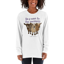 Voiceless - American Apparel Unisex Fine Jersey Long sleeve t-shirt