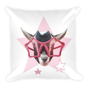 Polly Rockstar Print - Square Pillow