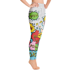 Super Goat - Large Print - Yoga Leggings