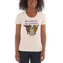 Voiceless - American Apparel Women's Tri-Blend Crew Neck T-shirt