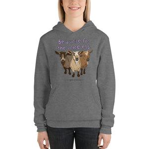 Voiceless - Bella + Canvas 3719 Unisex hoodie