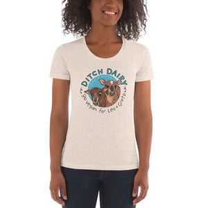 Ditch Dairy - American Apparel Women's Tri-Blend Crew Neck T-shirt