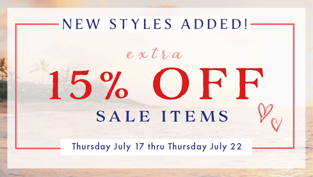 Psst!! New Items Added to the Sale Room!
