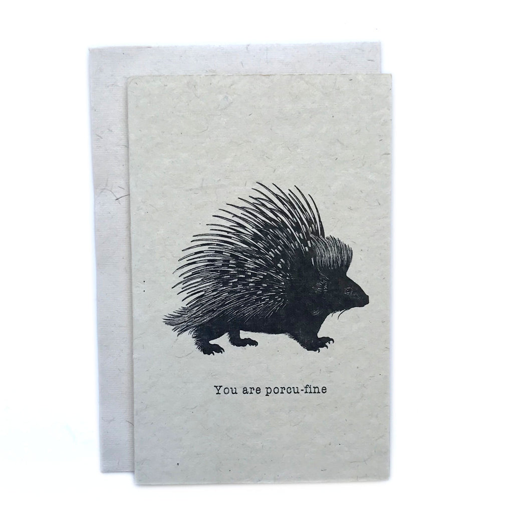 Greeting Card - Porcu-fine