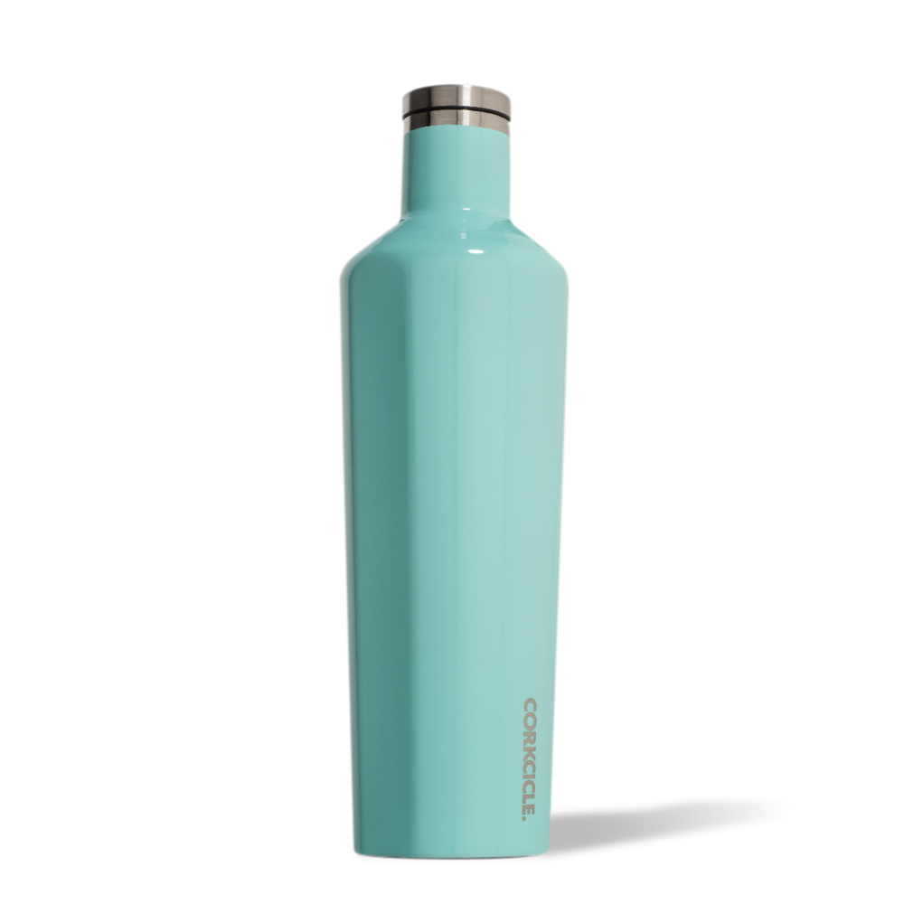 corkcicle canteen 25oz turquoise twang and pearl