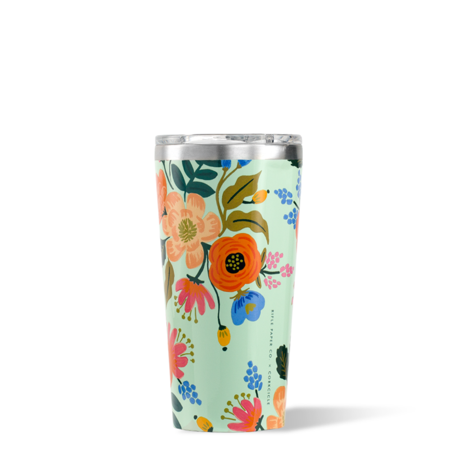 Corkcicle Tumbler - 16oz - Rifle Paper Collab - Gloss Mint