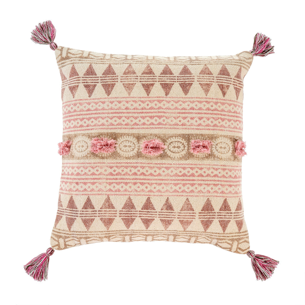 Rosa Block Print Pillow at Twang and Pearl