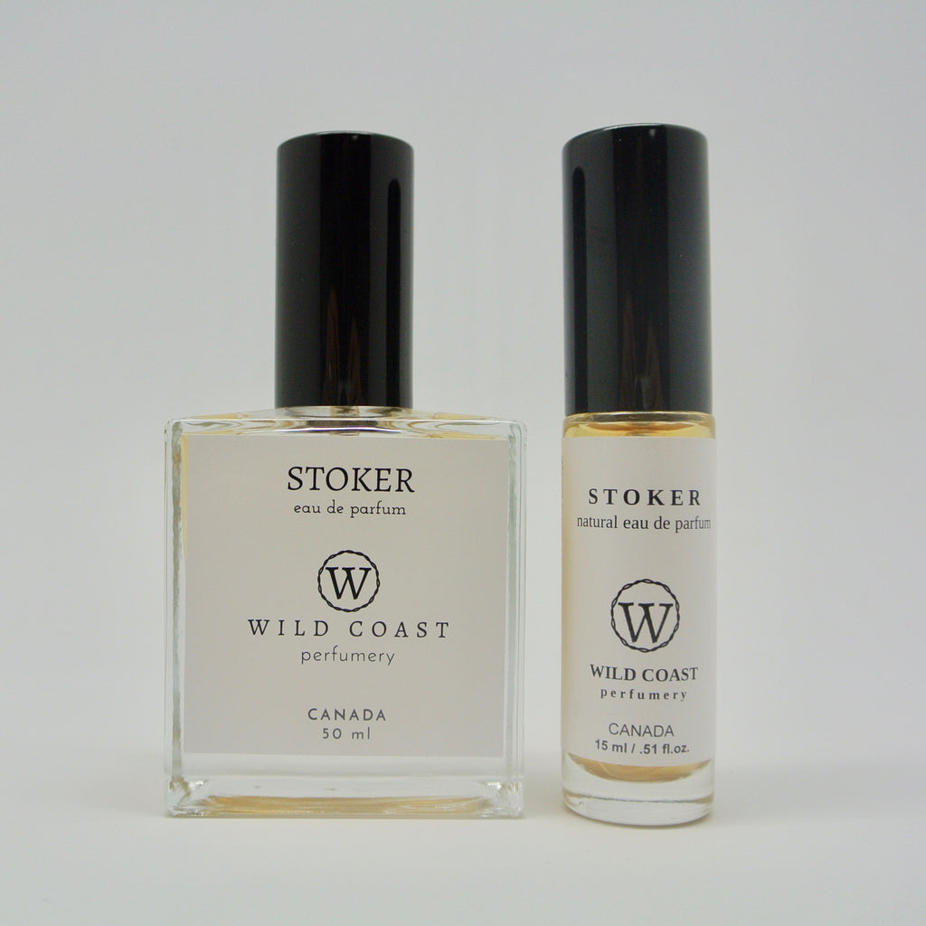 wild coast perfumery stoker in 50ml and 15ml at twang and pearl