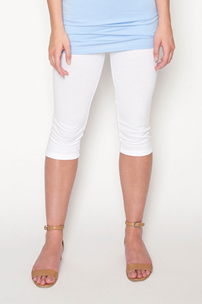 Echo Verde Capri Legging White at Twang and Pearl