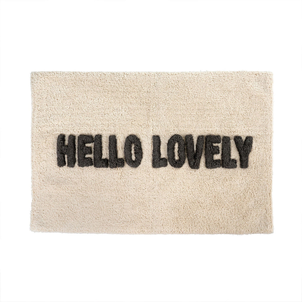 Bath Mat Hello Lovely at Twang and Pearl
