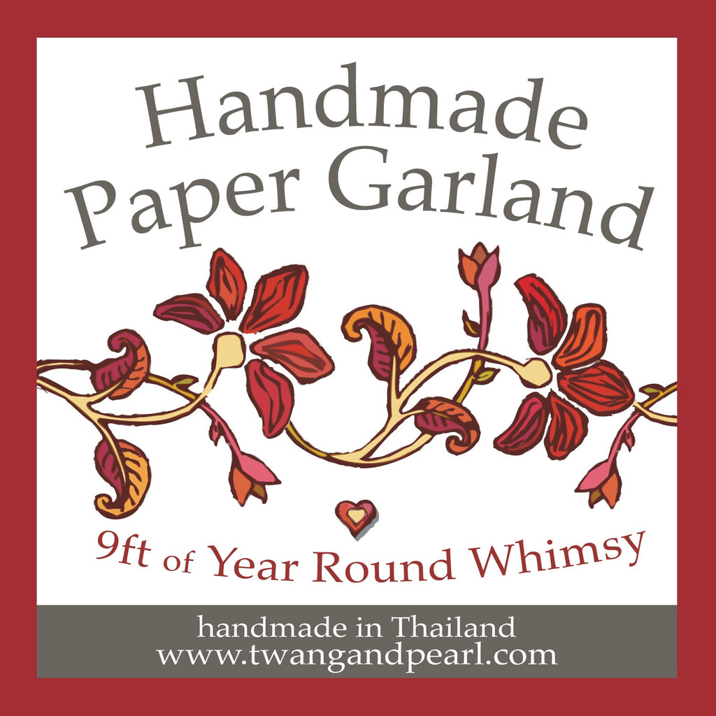 handmade paper garland at twang and pearl