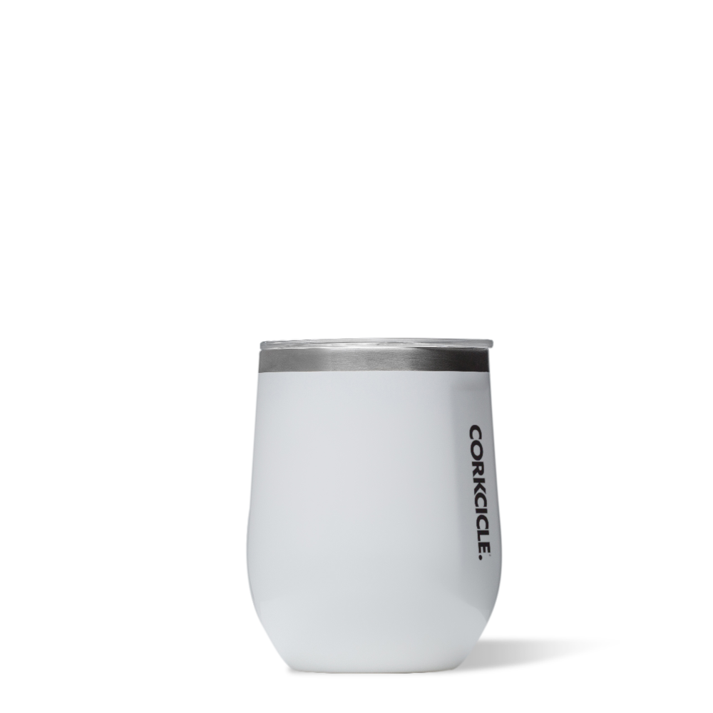 twang and pearl corkcicle stemless tumbler gloss white