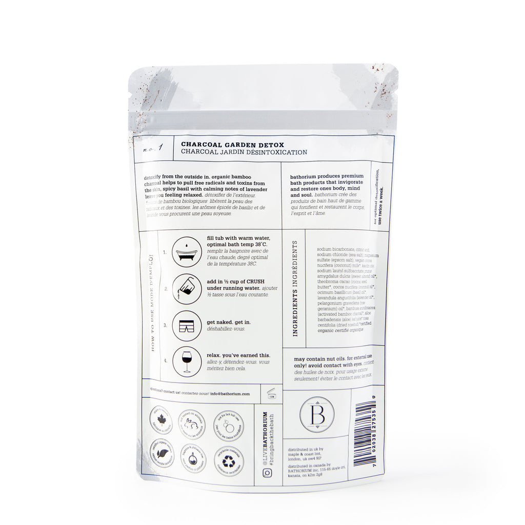 Bathorium - Bath Soak - Charcoal Garden Detox