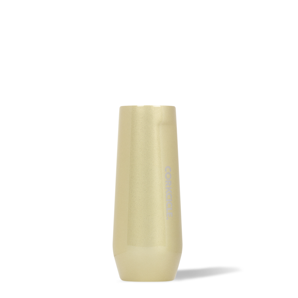 twang and pearl stemless flute 7 oz glampagne