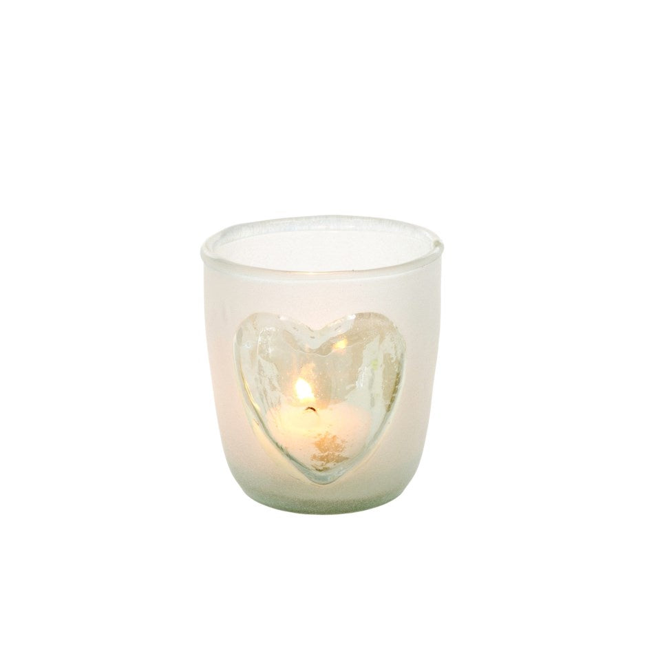 Frosted Heart Votive