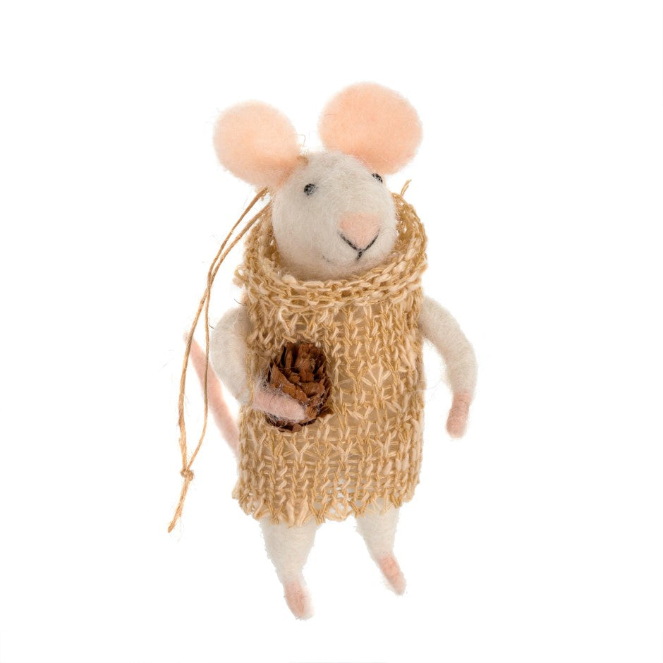 felted mouse ornament boho lily twang and pearl