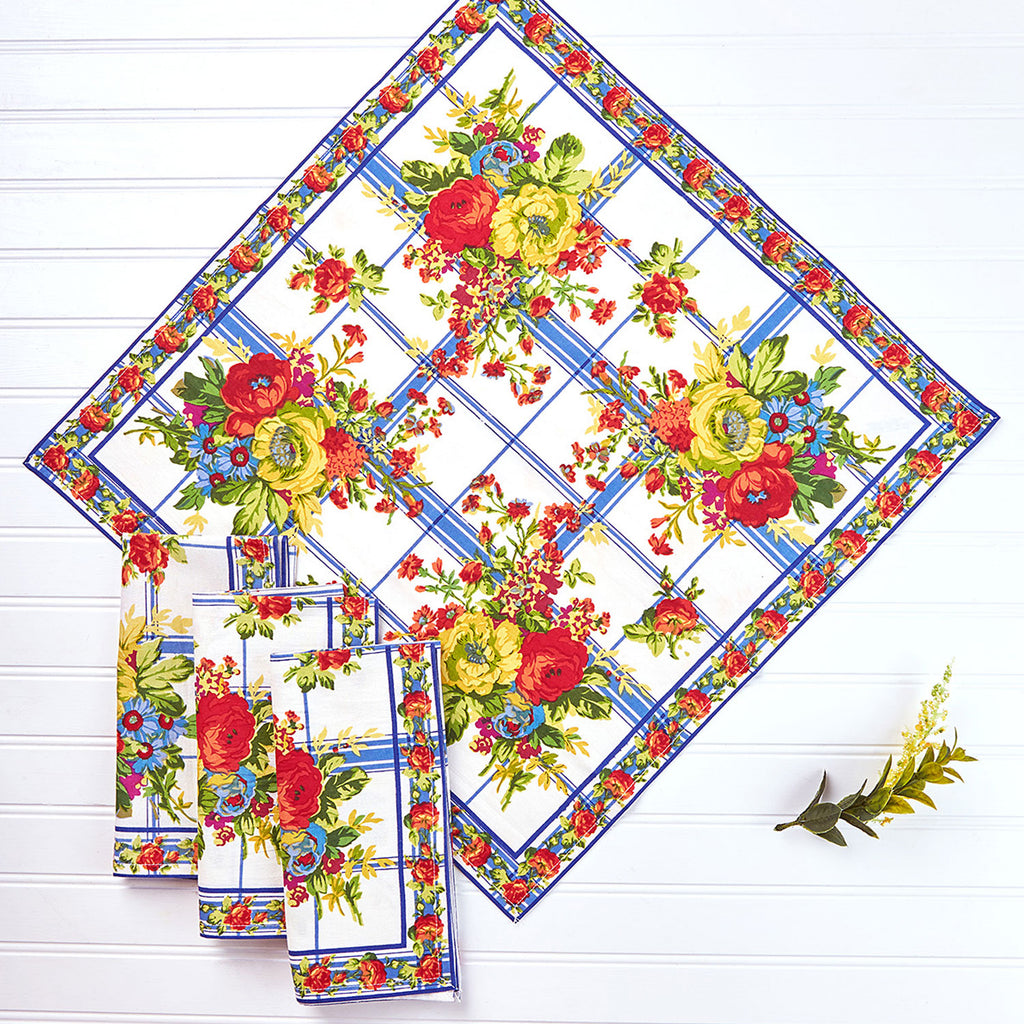 April Cornell Printed Napkins Set of 4 | Cornwall Cottage