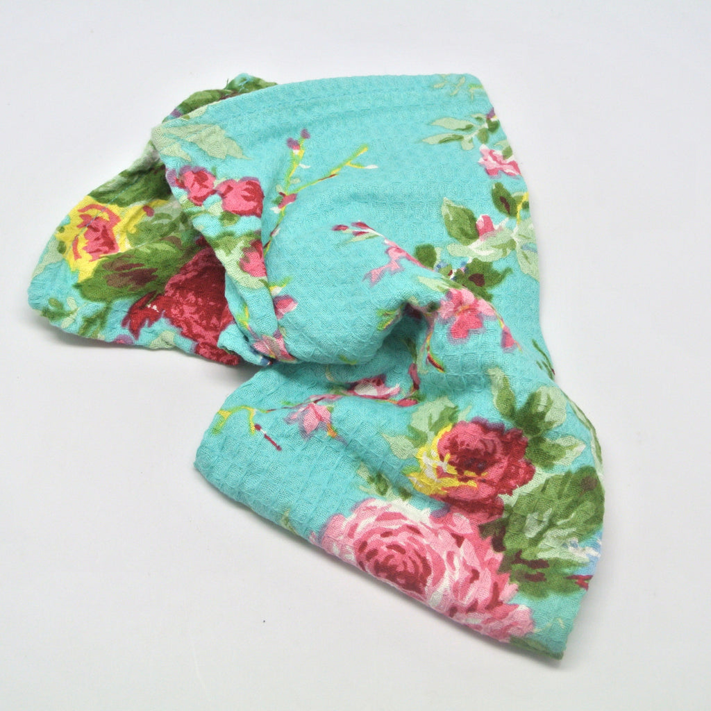 April Cornell Dish Cloths rose aqua at Twang and Pearl