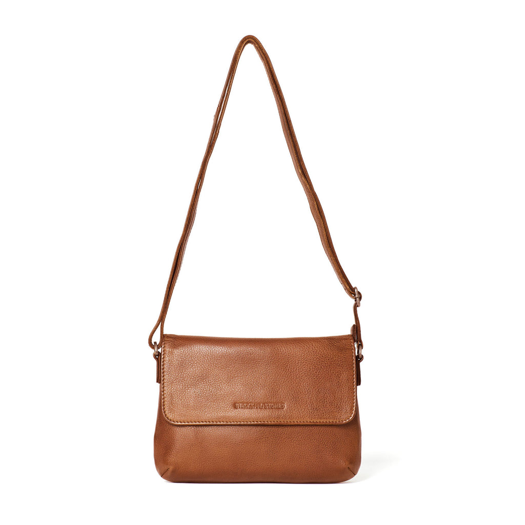 Sticks and Stones Athens Bag Cognac at Twang and Pearl