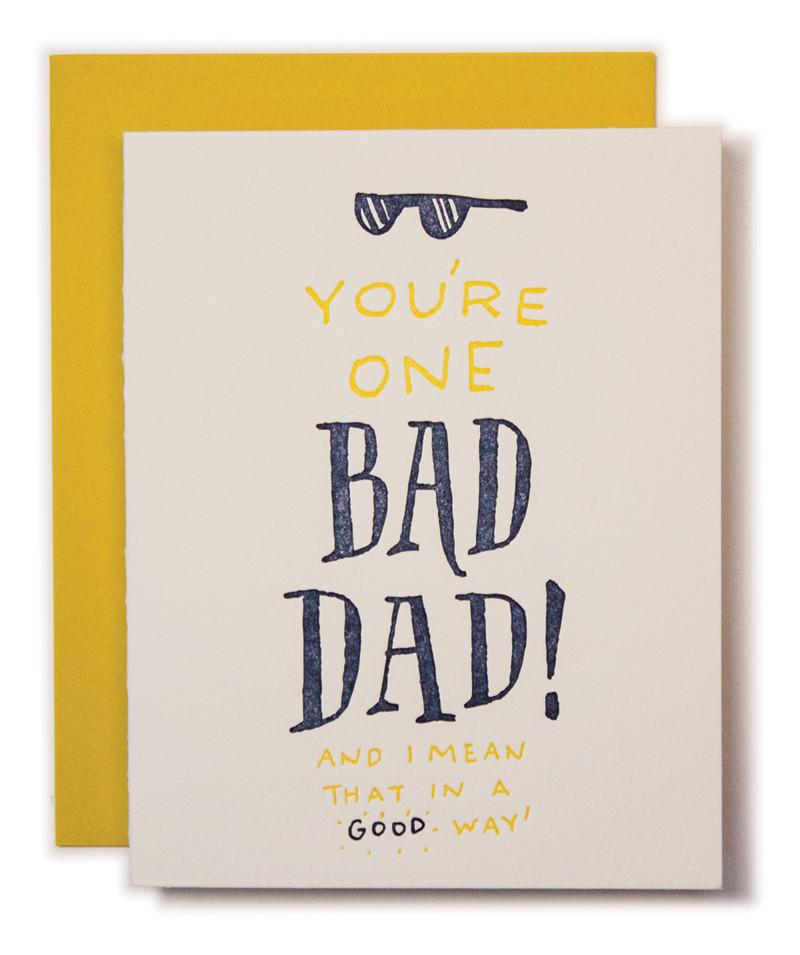 Ladyfingers Press Father's Day Card Bad Dad at Twang and Pearl