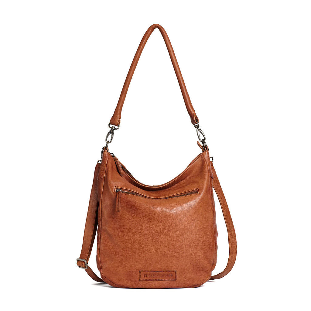 Sticks and Stones Bali Bag Cognac at Twang and Pearl