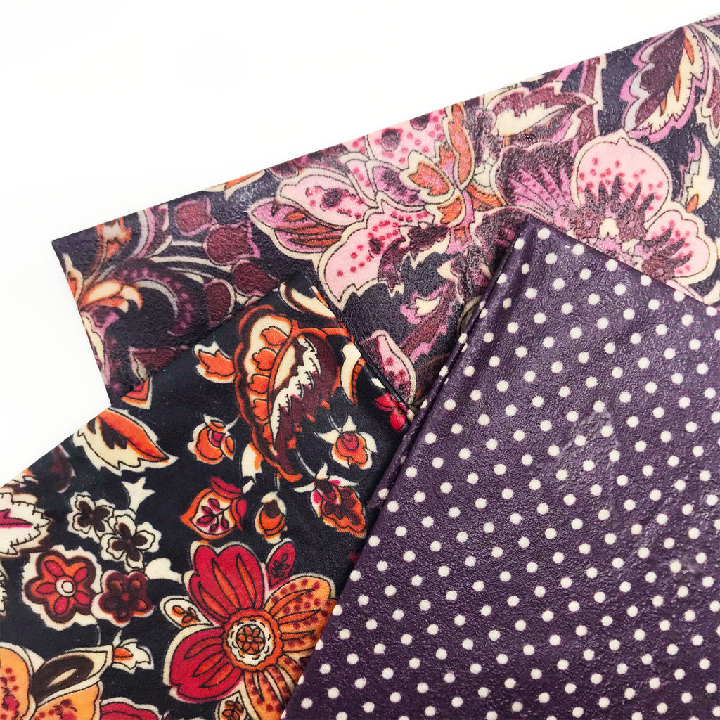 Bali Bees Beeswax Wraps Purple Floral at Twang and Pearl