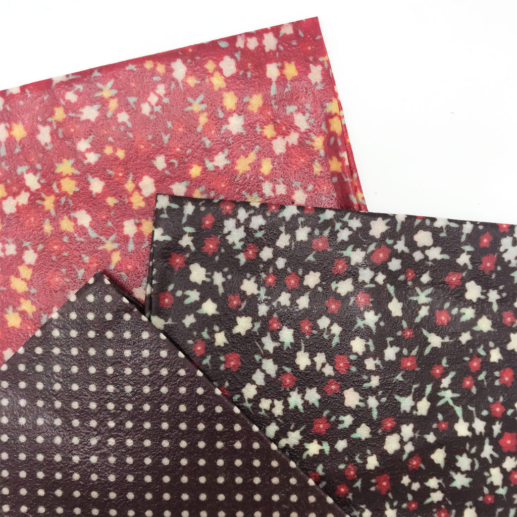 Bali Bees Beeswax Wraps Red Floral at Twang and Pearl