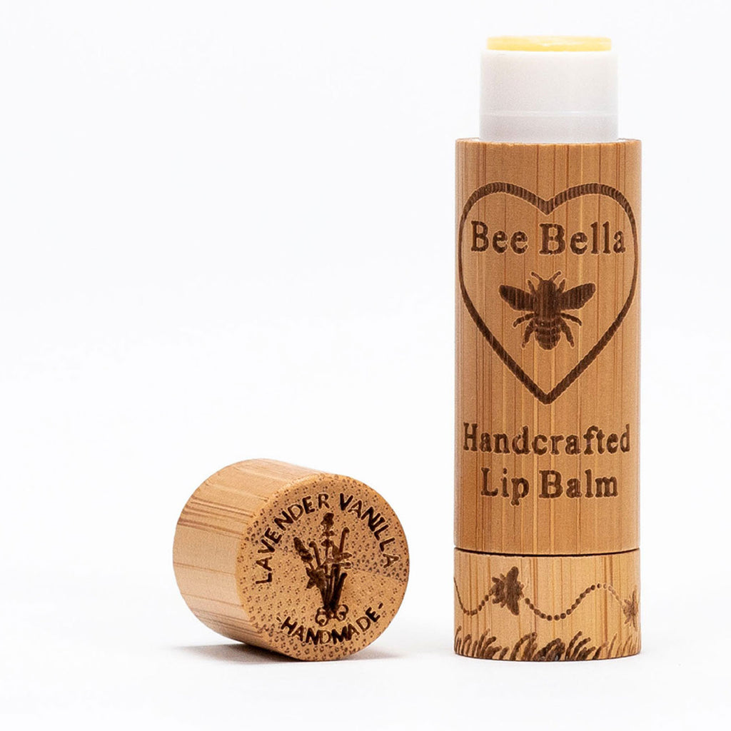 bee bella lip balm lavender vanilla twang and pearl