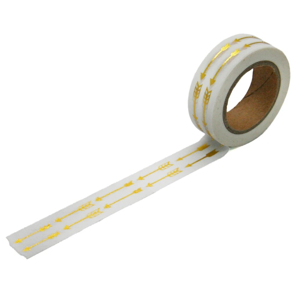 Beve Washi Tape Gold Metallic Arrow at Twang and Pearl