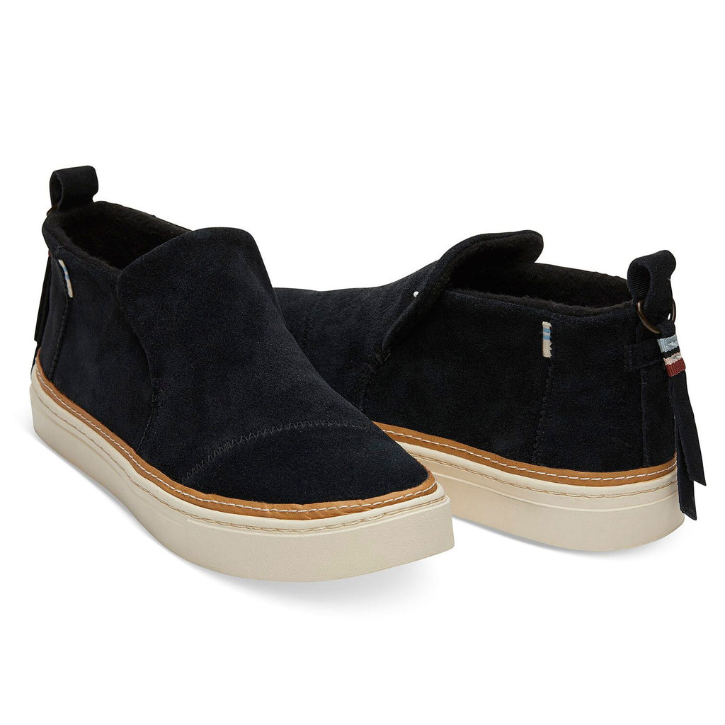 TOMS Paxton Water Resistant Sneakers Black Suede at Twang and Pearl